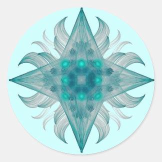 アクエリアスの星のステッカー ラウンドシール
