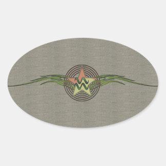 アクエリアスの星 楕円形シール