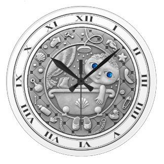 アクエリアスの硬貨の柱時計 ラージ壁時計