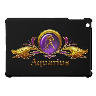 アクエリアスの紫色の宝石のデザインの黒iPad Mini iPad Miniカバー