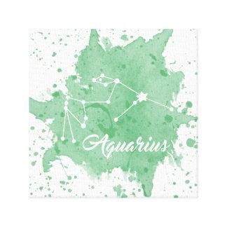 アクエリアスの緑の壁の芸術 キャンバスプリント