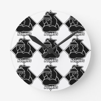 アクエリアスの誕生日の占星術の(占星術の)十二宮図の印の占星術 ラウンド壁時計