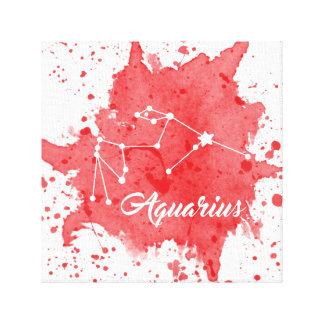 アクエリアスの赤い壁の芸術 キャンバスプリント