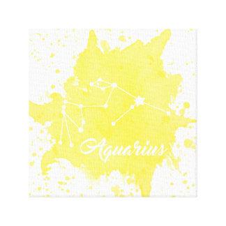 アクエリアスの黄色い壁の芸術 キャンバスプリント