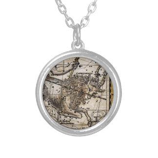 アクエリアスの(占星術の)十二宮図の印のペンダント シルバープレートネックレス
