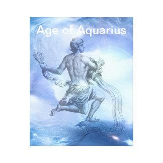 アクエリアスの(占星術の)十二宮図の年齢 キャンバスプリント