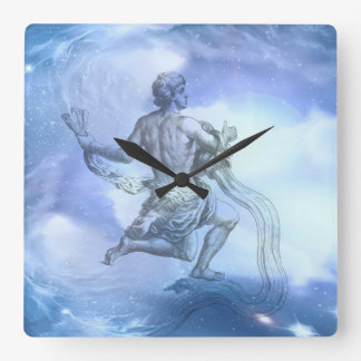 アクエリアスの(占星術の)十二宮図の年齢 スクエア壁時計