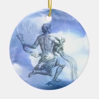 アクエリアスの(占星術の)十二宮図の年齢 セラミックオーナメント