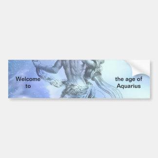 アクエリアスの(占星術の)十二宮図の年齢 バンパーステッカー