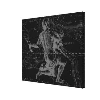 アクエリアスの(占星術の)十二宮図の星座Hevelius 1690年 キャンバスプリント