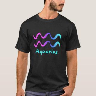 アクエリアスのTシャツの(占星術の)十二宮図の印の波 Tシャツ