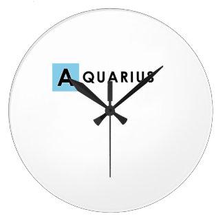 アクエリアス色 ラージ壁時計