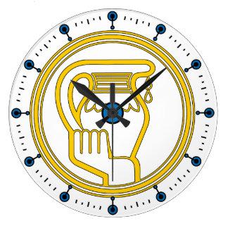 アクエリアス-アクエリアスの(占星術の)十二宮図の印-占星術 ラージ壁時計