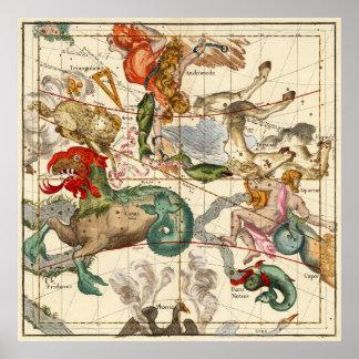 アクエリアス、アンドロメダ、ペガソス、フェニックスおよび他 ポスター