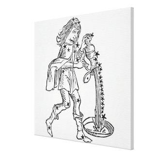 アクエリアス(水キャリア)イラストレーションからの キャンバスプリント