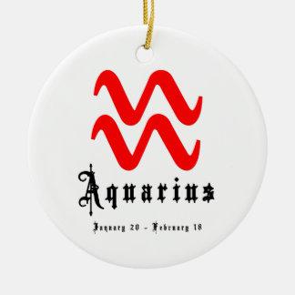 アクエリアス、1月20日- 2月18日 セラミックオーナメント