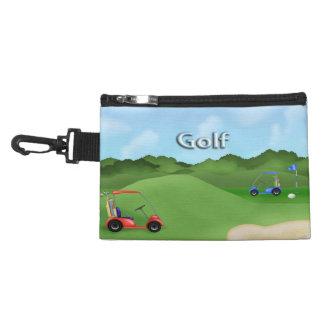 アクセサリーバッグのゴルフをするクリップ