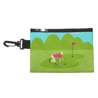 アクセサリーバッグのレトロのゴルファークリップ アクセサリーバッグ