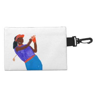 """アクセサリーバッグの""""ゴルファー女性""""のクリップ アクセサリーバッグ"""
