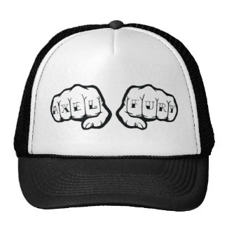 アクセルの激怒の握りこぶしのロゴのトラック運転手 メッシュキャップ