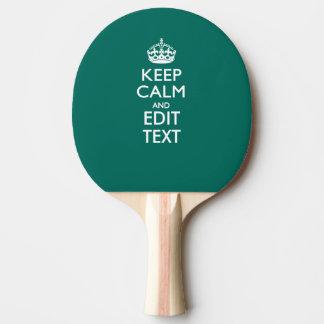 アクセントのターコイズの平静そしてあなたの文字を保って下さい 卓球ラケット