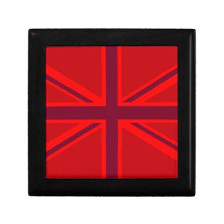 アクセントの英国国旗の赤いデザイン ギフトボックス