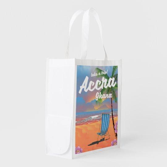 アクラガーナのビーチ旅行ポスター エコバッグ