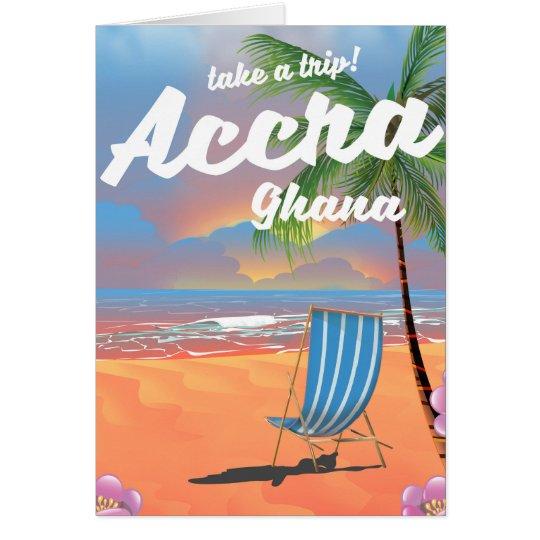 アクラガーナのビーチ旅行ポスター グリーティングカード