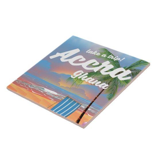アクラガーナのビーチ旅行ポスター タイル