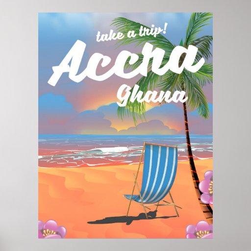 アクラガーナのビーチ旅行ポスター ポスター