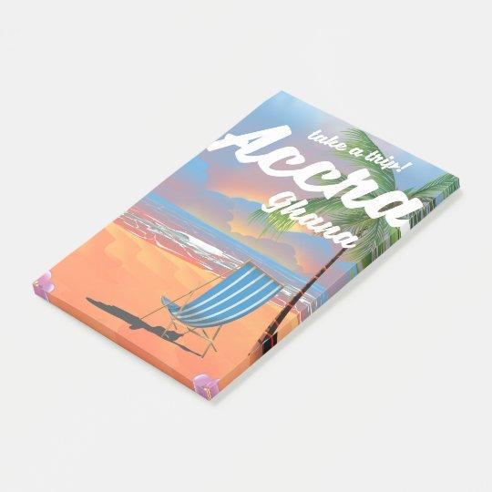 アクラガーナのビーチ旅行ポスター ポストイット