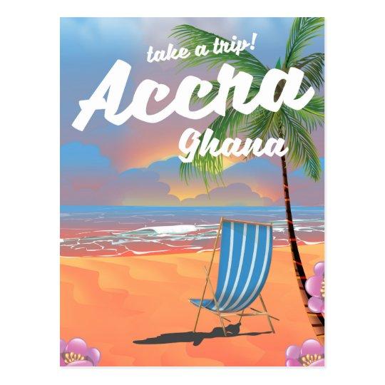 アクラガーナのビーチ旅行ポスター ポストカード