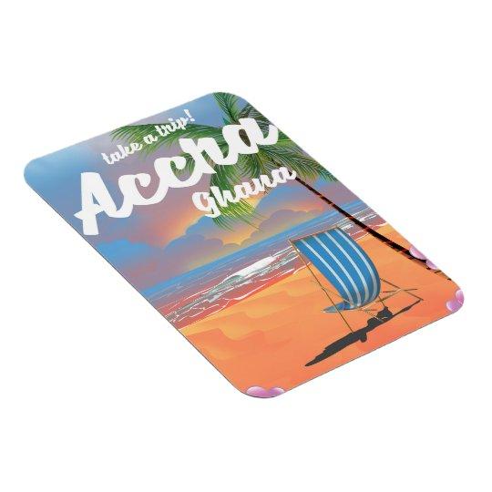 アクラガーナのビーチ旅行ポスター マグネット