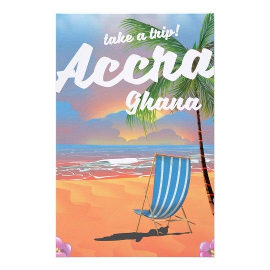 アクラガーナのビーチ旅行ポスター 便箋