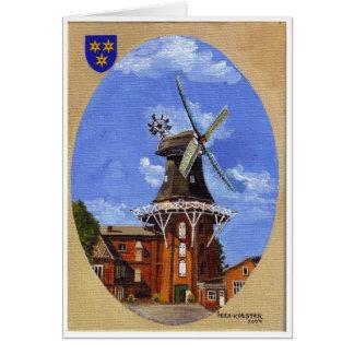 アクリルで絵を描かれるNorden Mühle カード