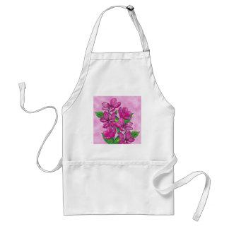 アクリルのピンクの花 スタンダードエプロン