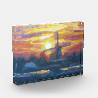 アクリルのブロックの文鎮を絵を描く日の出の製造所 表彰盾