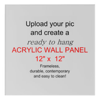 アクリルの壁の芸術12 x12 -写真および文字を加えて下さい! アクリルウォールアート