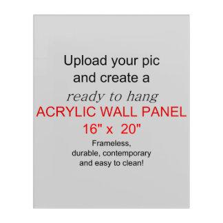 アクリルの壁の芸術16 x 20 -写真および文字を加えて下さい! アクリルウォールアート