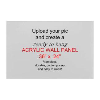 アクリルの壁の芸術36 x 24 -写真および文字を加えて下さい! アクリルウォールアート
