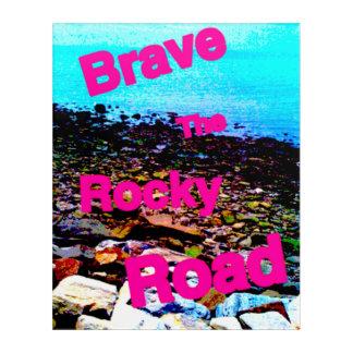 """アクリルの壁の芸術、16x20は""""勇敢に立ち向かいます岩が多い道""""に アクリルウォールアート"""
