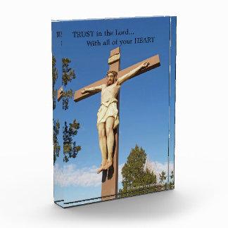 アクリルの宗教写真のブロック-主の信頼 表彰盾