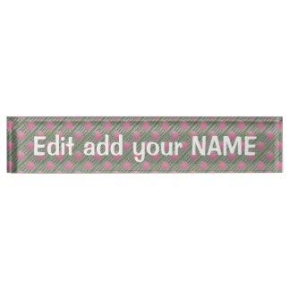 アクリルの机用ネームプレートの名前、タイトル、ロゴのデザイン