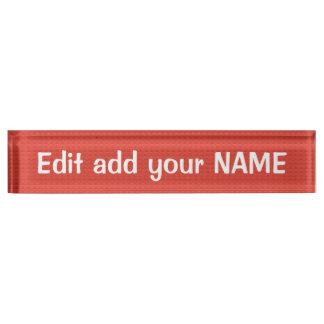 アクリルの机用ネームプレートの名前、タイトル、ロゴのデザイン デスクネームプレート