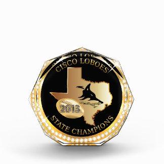アクリルの水晶- Cisco Loboesの州のチャンピオン 表彰盾