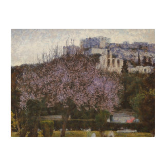 アクロポリスに道を示す木 ウッドウォールアート