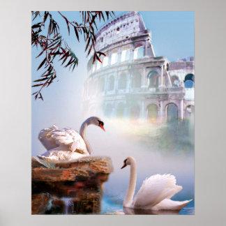 アクロポリスのファインアートポスター白鳥の組 ポスター