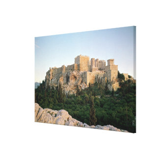 アクロポリスの全景 キャンバスプリント