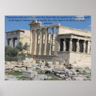 アクロポリスの写真とのアリストテレスの引用語句 ポスター