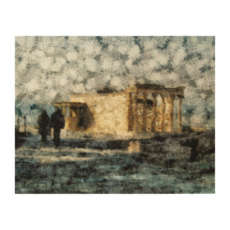 アクロポリスの場所の訪問 ウッドウォールアート